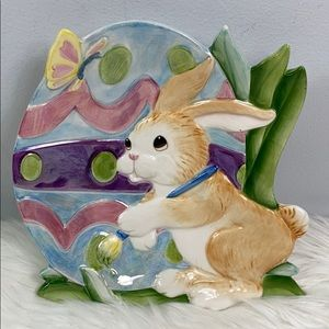 Easter Rabbit Platter Plate Decor Fitz and Floyd
